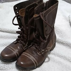 Steve Madden Troopa brown combat style boots